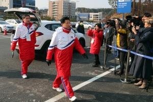 20180208 평창동계올림픽 북한선수단 선수촌 입촌식001