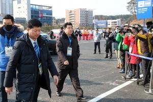 20180208 평창동계올림픽 북한선수단 선수촌 입촌식002