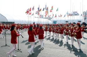20180208 평창동계올림픽 북한선수단 선수촌 입촌식011