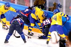 20180212 여자아이스하키 남북단일팀-스웨덴 (32)